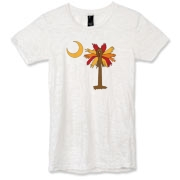 Buy a Thanksgiving Turkey Palmetto Moon Alternative Apparel Women's Burnout T-Shirt and celebrate Turkey Day South Carolina style.