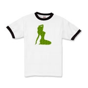 Pin Up Tiger Kids Ringer T-Shirt