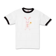 Celebrate Chinese New Year with this cute year of the metal rabbit shirt! This rabbit is happily carrying a red and gold pinwheel with bells! Also a great gift for someone who just loves rabbits! Red Version. 5