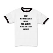 Funny police t-shirt that lets the public know cops can write as many tickets as they want.