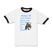 Cross Checking Kids Ringer T-Shirt