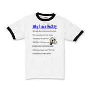 Why I Love Hockey Kids Ringer T-Shirt