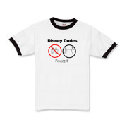 Disney Dudes Podcast Warning Kids Ringer T-Shirt