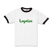 puff down tough in this legalize shirt with leafy letters