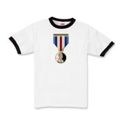 Pennies For Heroes Medal Kids Ringer T-Shirt