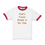 Dad Future Rookie of the year Kids Ringer T-Shirt