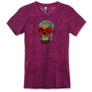 A lovely painted skull to honor the dead on los Dia de Muertos or if you rather, the day of the dead.