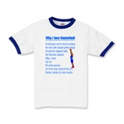 Why I Love Basketball Kids Ringer T-Shirt