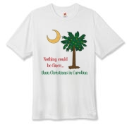 Buy a Nothing Finer than Christmas in Carolina Palmetto Moon Hanes Cool Dri T-shirt. Nothing could be finer than Christmas in Carolina.