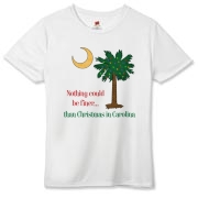 Buy a Nothing Finer than Christmas in Carolina Palmetto Moon Hanes Women's Cool Dri T-shirt. Nothing could be finer than Christmas in Carolina.