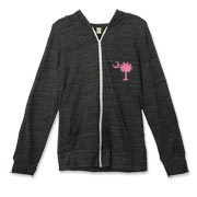 Buy a Pink Palmetto Moon Alternative Apparel Unisex Zipper Hoodie. The palmetto moon is a symbol of South Carolina pride.