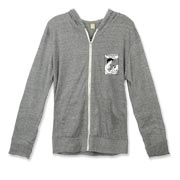 Unisex regular fit eco-heather long sleeve zip-up hoodie with kangaroo style pocket. No ties; natural color zipper tape; brushed nickel zipper. 50% polyester, 38% ring spun cotton, 12% rayon, 6.25% organic cotton, 6.25% recycled polyester.