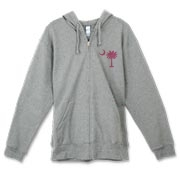 Buy a Pink Palmetto Moon Canvas Freemont Full-Zip Hoodie. The palmetto moon is a symbol of South Carolina pride.