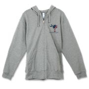 Buy a U.S. Flag Carolina Girl Canvas Freemont Full-Zip Hoodie featuring the American flag in the background of the South Carolina palmetto moon logo.