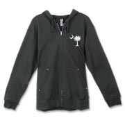 Buy a White Palmetto Moon Canvas Freemont Full-Zip Hoodie. The palmetto moon is a symbol of South Carolina pride.