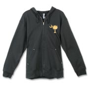 Buy a Yellow Polka Dot Palmetto Moon Canvas Freemont Full-Zip Hoodie that features a yellow palmetto moon with white polka dots.
