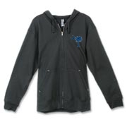 Buy a Blue Carolina Girl Deluxe Canvas Freemont Full-Zip Hoodie. This two-sided design features a small palmetto moon printed on the front left chest area and matching Carolina Girl palmetto design on the back. The palmetto moon is a symbol of South Carol