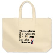 Pulmonary Fibrosis Awareness design.