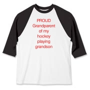 Proud of hockey grandson Baseball Jersey