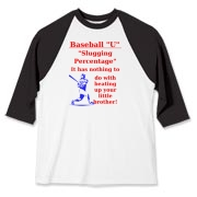 Slugging Percentage Baseball Jersey