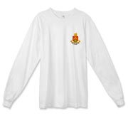158th Artillery, MLRS - American Apparel, Light Color Fine Jersey Long Sleeve Tee: Front & Back Insignia, Available in One Light Color.