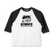 Science retro classic tee - screenprint reads, Science helps you prove others are dumb. Original and funny design by KaptainMyke.com.