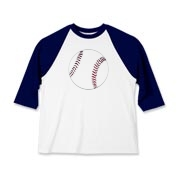 A baseball is featured on the center front of this Kids Baseball Jersey.