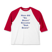 Duh Bears Kids Baseball Jersey