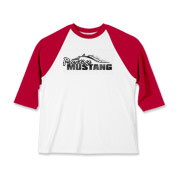 Sporty Kids Baseball Jersey features our popular Prestige Mustang Fade Logo design on the front