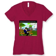 Bella Deep V Tri-blend T-Shirt