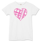 Be My Valentine? Pink plaid heart Women's T-Shirt