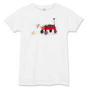 Chick jumping from wagon Women's T-Shirt