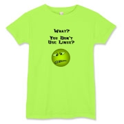 This women's amusing Linux t-shirt shows a not so smiley face with a nasty, broken tooth grimace. The caption for the angry face says: What? You Don't Use Linux?