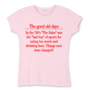 Good Old Days Women's Fitted Baby Rib Tee