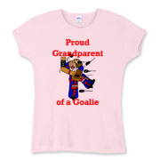 Goalie Grandparent Women's Fitted Baby Rib Tee