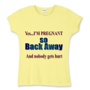Yes I'm Pregnant! Women's Fitted Baby Rib Tee
