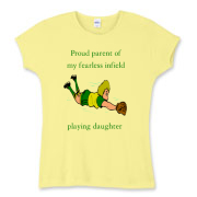 Proud of Infielder Daughter Women's Fitted Baby Ri
