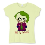 Joker Shirt Womens Baby Rib Tee $25.99