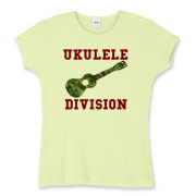 Ukulele Forces -  Women's Fitted Baby Rib Tee