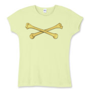 Personal Crossbones Women's Fitted Baby Rib Tee
