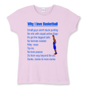 Why I Love Basketball Women's Fitted Baby Rib Tee