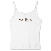 MY RUN - Design - 2  Women's Fitted Spaghetti Stra