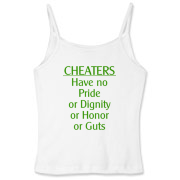 Cheaters Women's Fitted Spaghetti Strap Tank