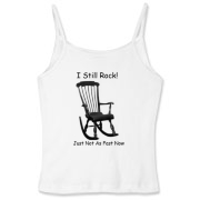I Still Rock! Women's Fitted Spaghetti Strap Tank