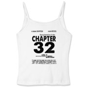 Chapter 32 Movie Poster Women's Fitted Spaghetti S