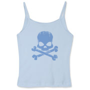 Blue Skull Women's Fitted Spaghetti Strap Tank