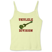 Ukulele Forces -  Women's Fitted Spaghetti Strap T