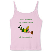 Proud of Infielder Daughter Women's Fitted Spaghet