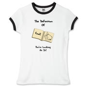 This humorous college dating shirt design shows a book open to the definition of cool -- a thumb pointing gesture pointing at you!