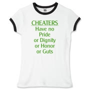 Cheaters Women's Fitted Ringer Tee